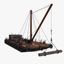 barge 3D models
