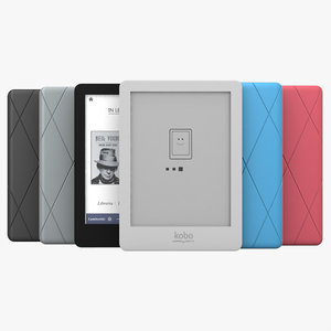 kobo glo ebook reader 3d 3ds
