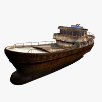 old cargo ship 3d ma