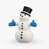 cartoon style snowman max