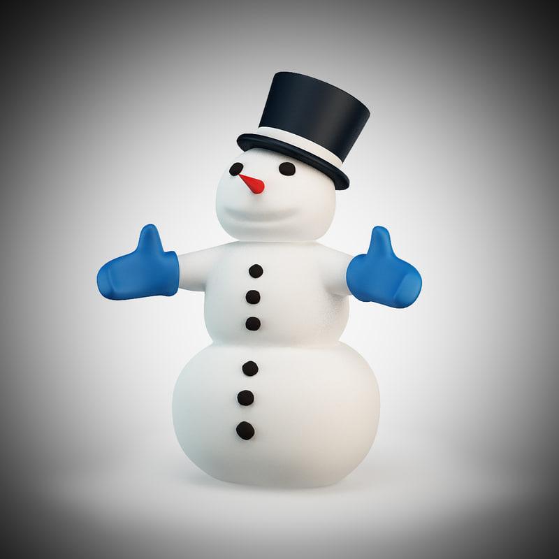 cartoon style snowman max