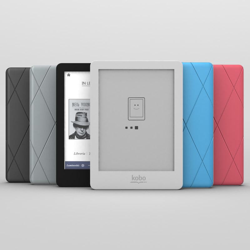 kobo glo ebook reader 3d 3ds