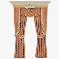 3d classic curtains interior 2