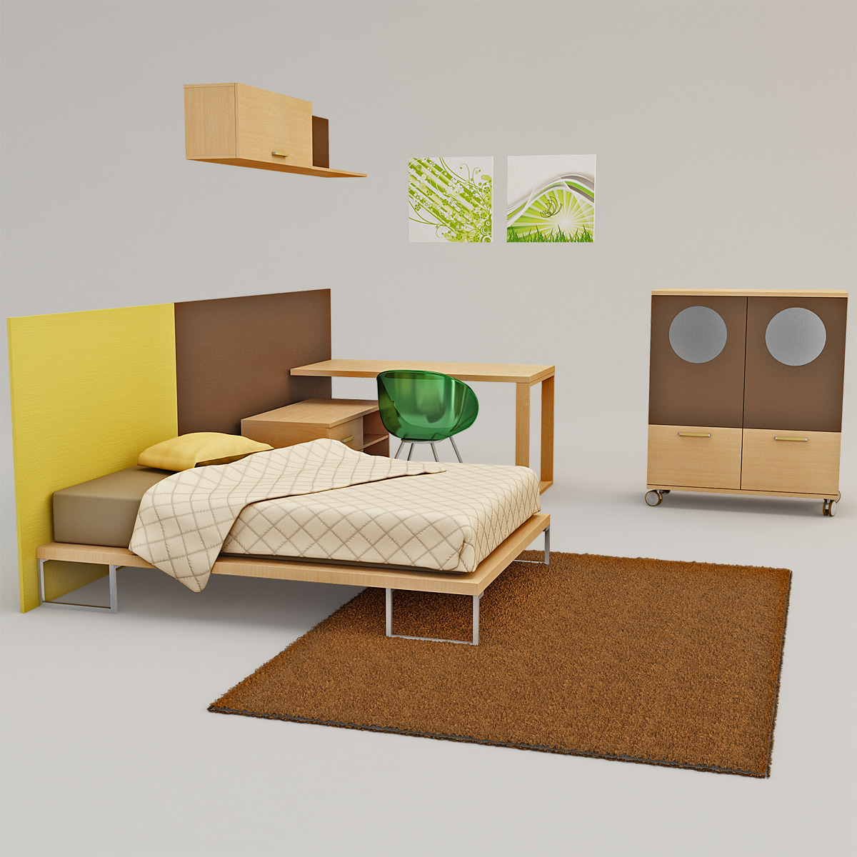 Kids Bedroom 3d Model bedroom furniture 3d model
