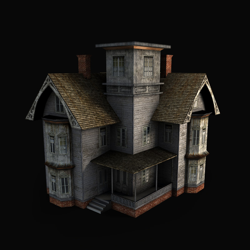 Old house 3d model House 3d model