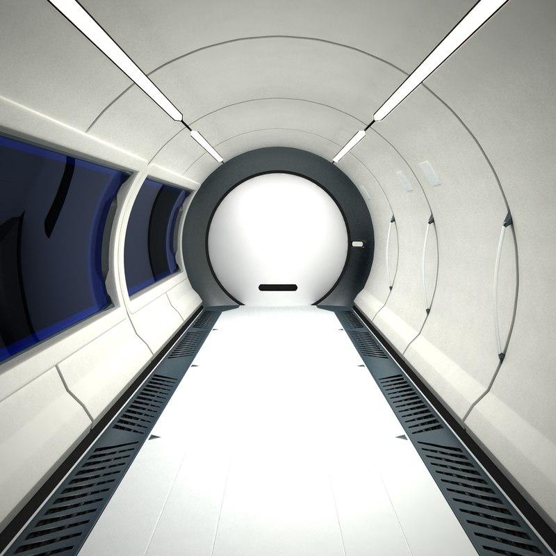 3ds max futuristic sci fi corridor
