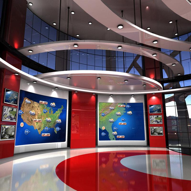 virtual set weather studio 3d max