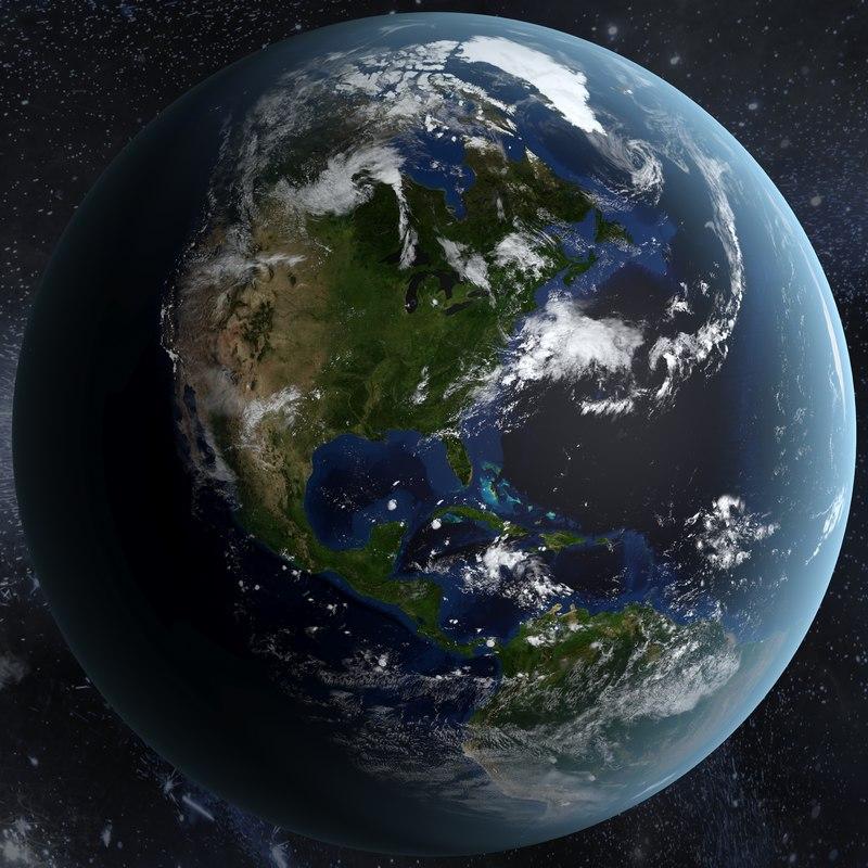realistic earth 3d max