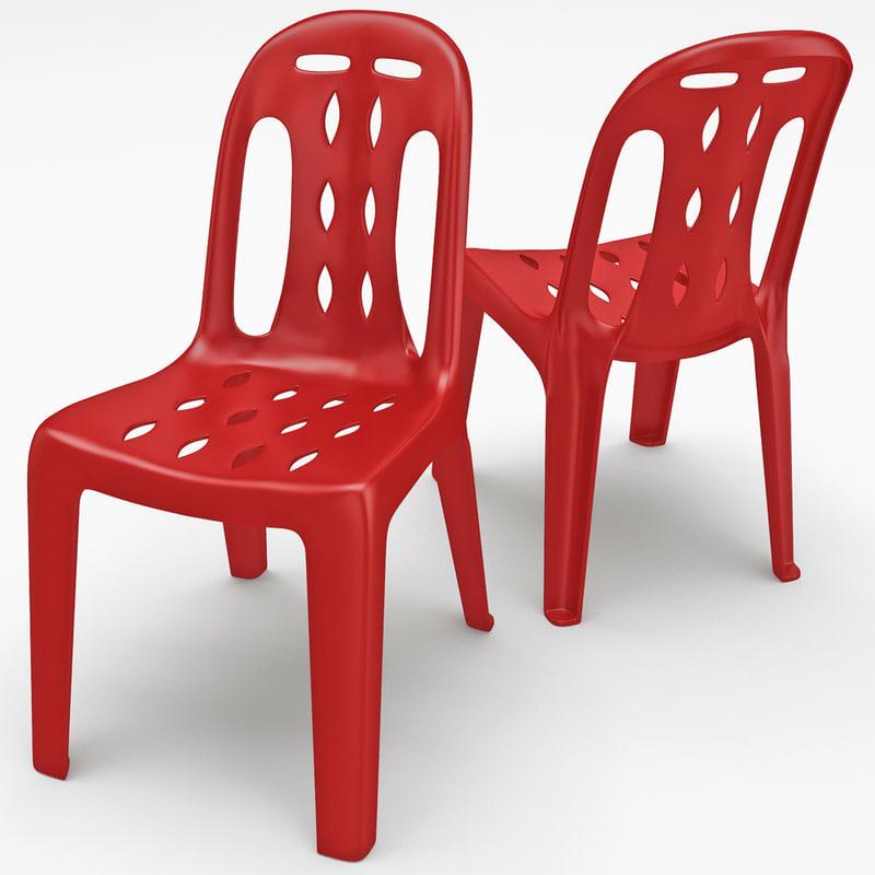 3ds max monobloc chair 5