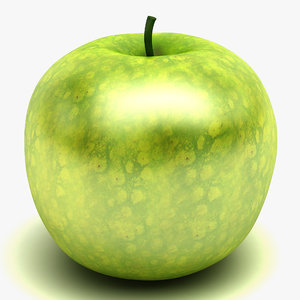 grannysmith apple 3d 3ds