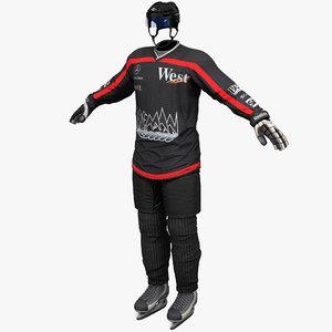 hockey gear 3 3d model