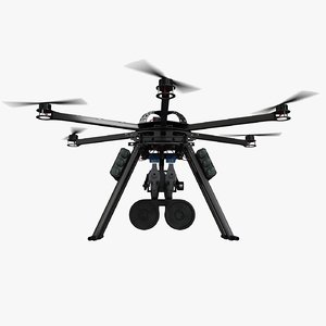 3d hexacopter attack drone