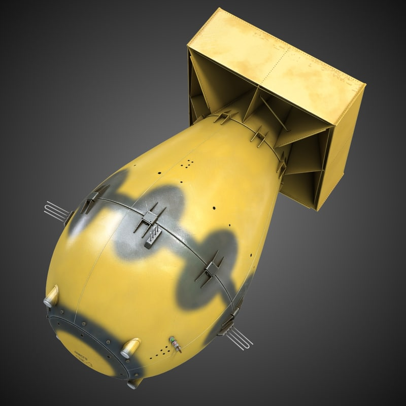 3d model fat man atomic bomb