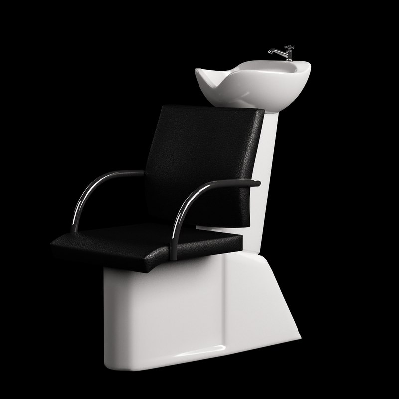 model of hairdresser chair hair