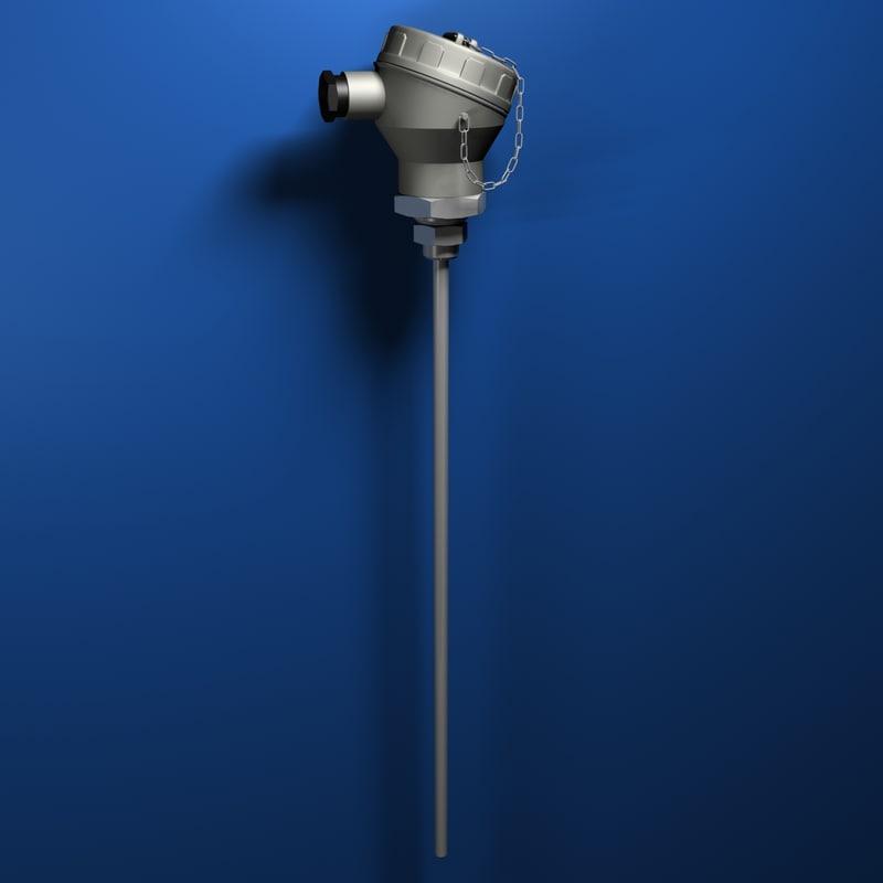 3d model thermocouple temperature