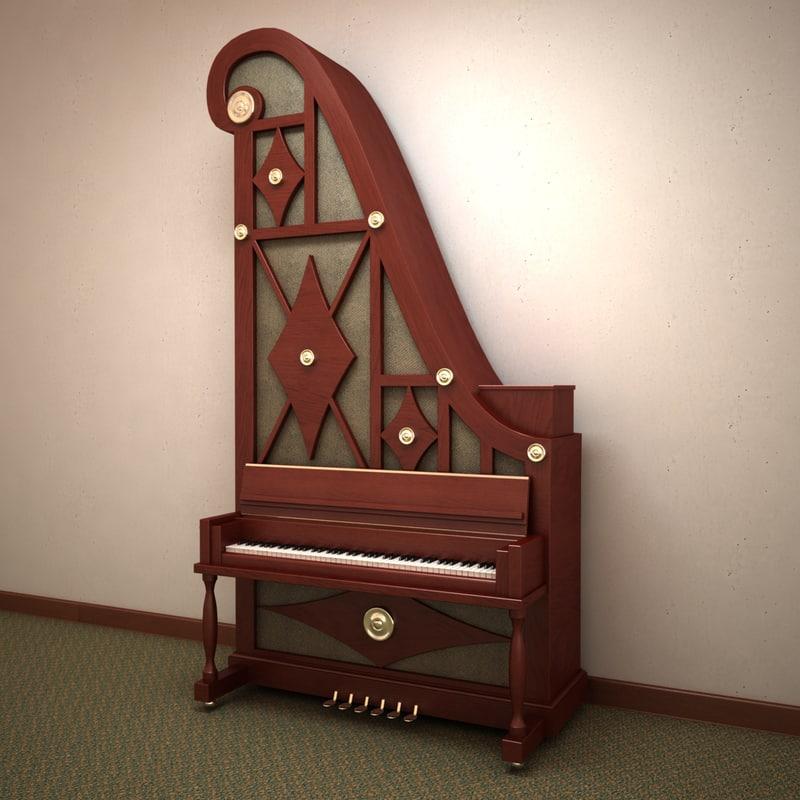 3ds max giraffe piano