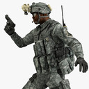 Military Male US Soldier