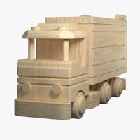 3d wodden truck model