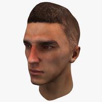 3d male head 4 model