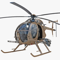 ah-6 little bird helicopter 3d model