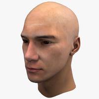 male head d max