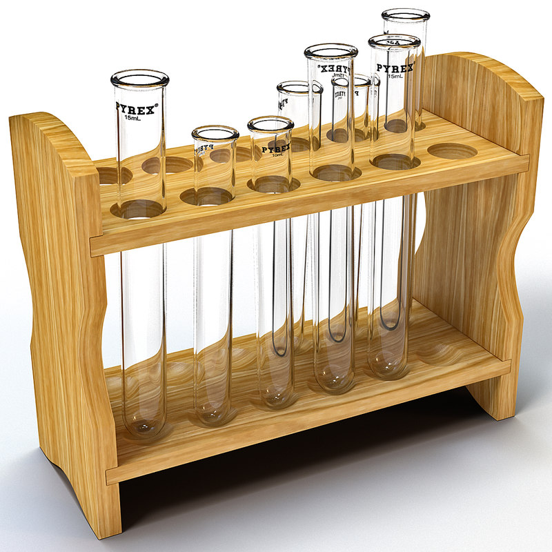 3ds test tubes rack