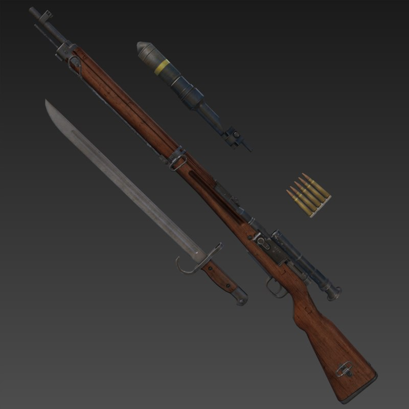 arisaka type 99 rifle 3d x