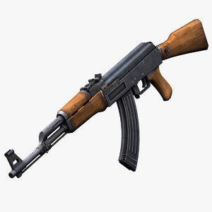 3d model ak47 kalashnikov rifle games