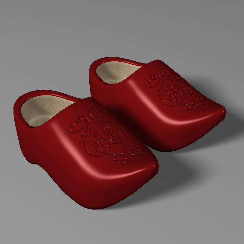 3d clogs model