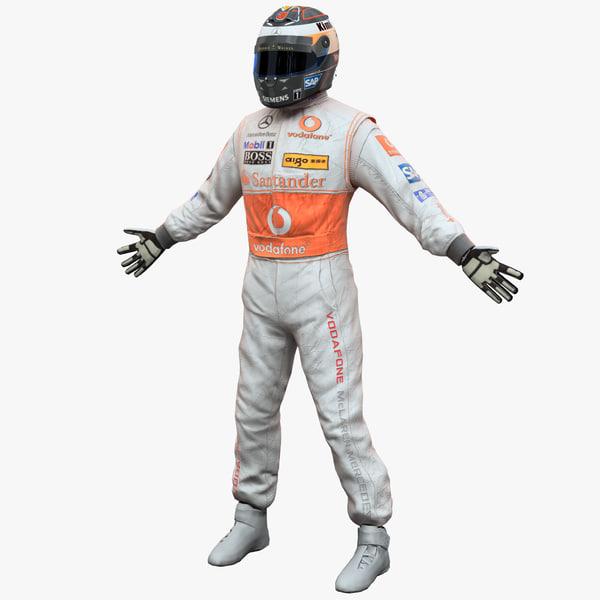 racing driver mercedes 3d 3ds