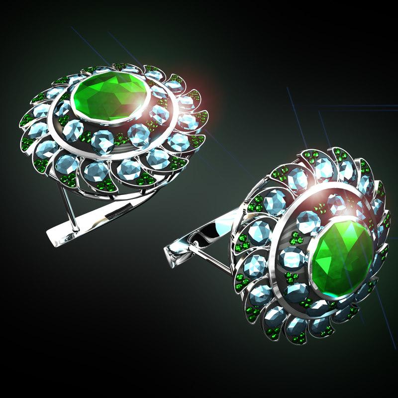 3d model ear emerald