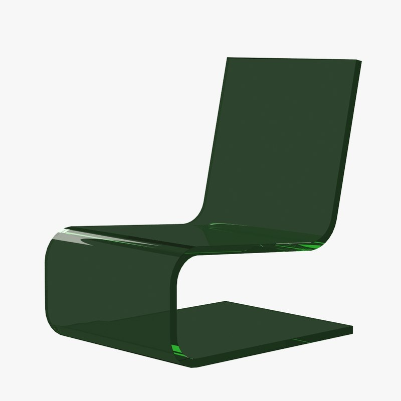 armchair transparent plastic 3d model