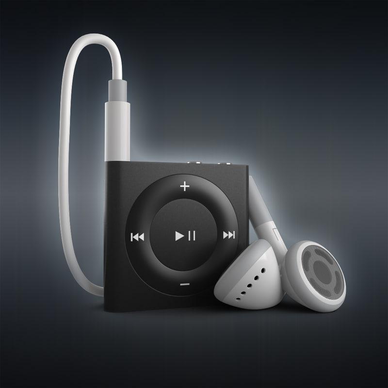 3d ipod shuffle 4 2gb model