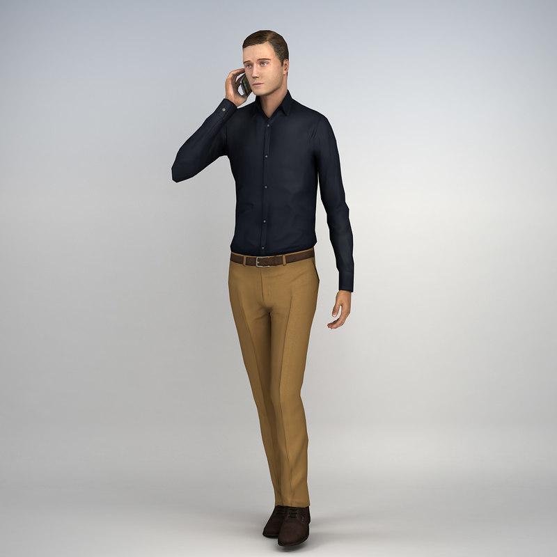 pre posed human casual man