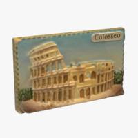 rome italy magnet souvenir 3d x