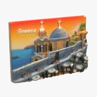 3d model greece magnet souvenir 2