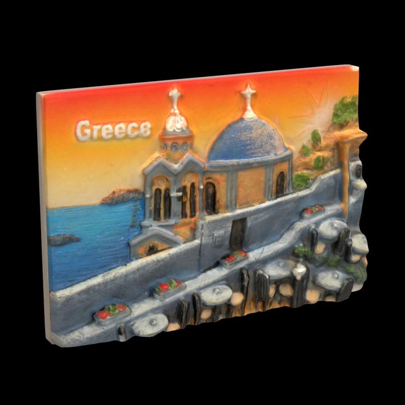 3d model greece magnet souvenir 2