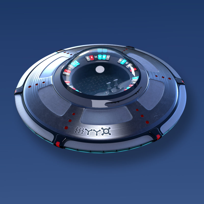 ufo spaceship spacecraft 3d ma