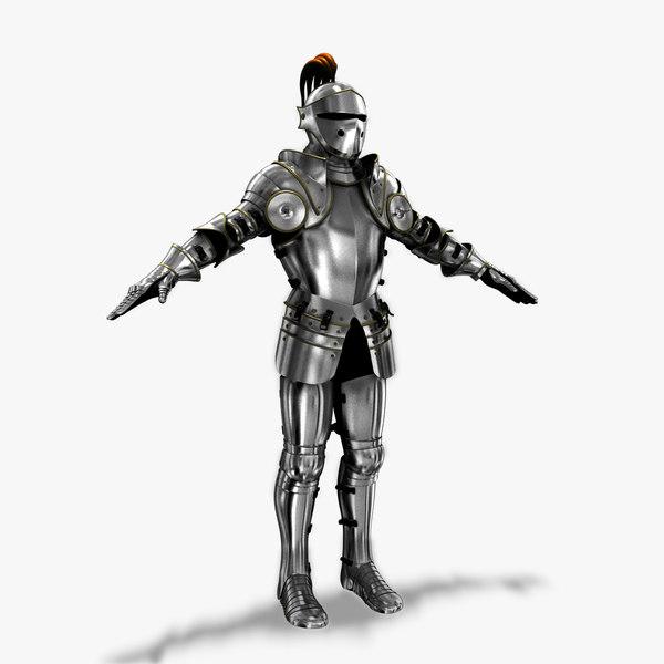 3d 16th century plate armor model