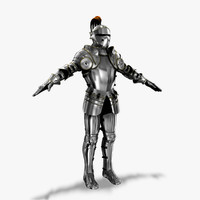 3d 16th century plate armor model