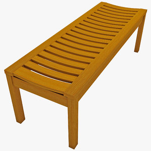3d backless bench achla
