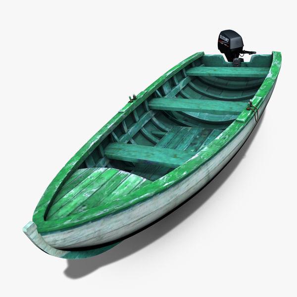 3ds max motorboat motor