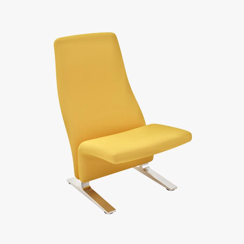 3d pierre paulin lounge chairs model