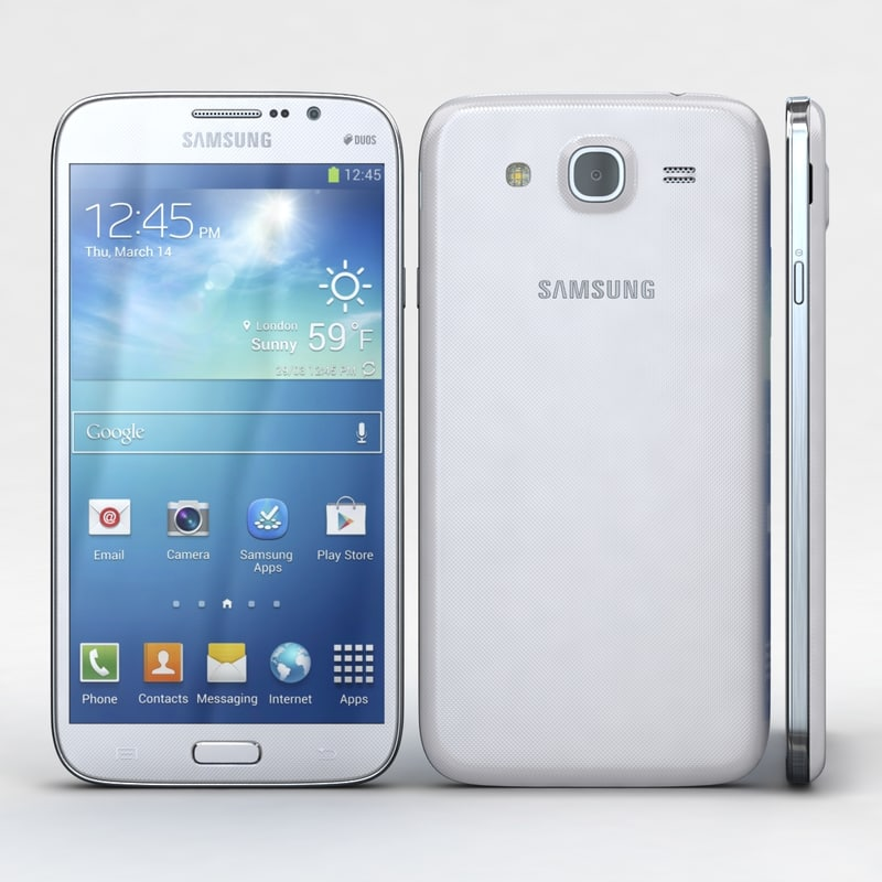 samsung galaxy mega 5 3d model