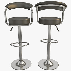 modern contemporary bar stools 3d 3ds