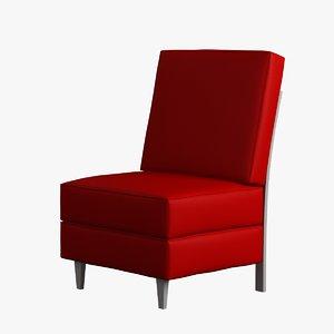 3d model chair armless