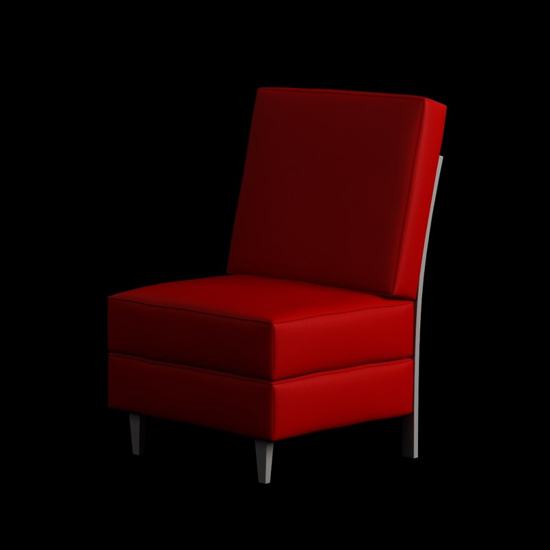 3d model chair armless