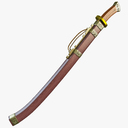 samurai sword 3D models