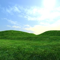 hills environment 3d max