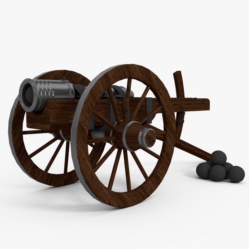 3d spanish cannon